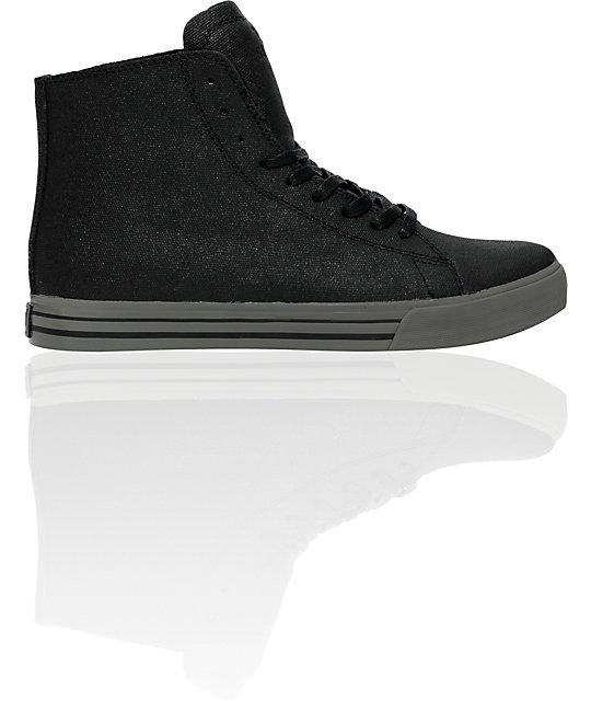 Supra Thunder Hi Black & Tuf Grey Shoes
