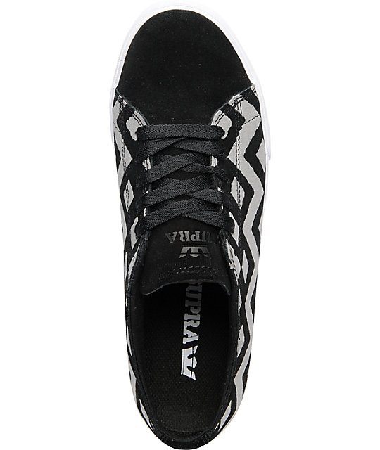 Supra Thunder Low Black Suede & Reflector Skate Shoes