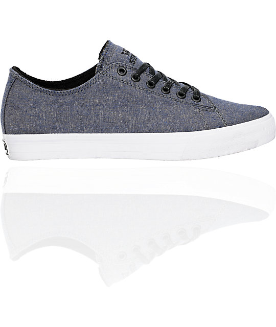 Supra Thunder Low Navy Chambray Shoes