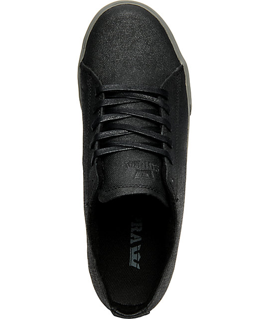 Supra Thunder Low Tuf Wax Black &Grey Shoes
