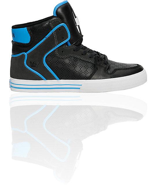Supra Vaider Black, Grey & Blue Shoes