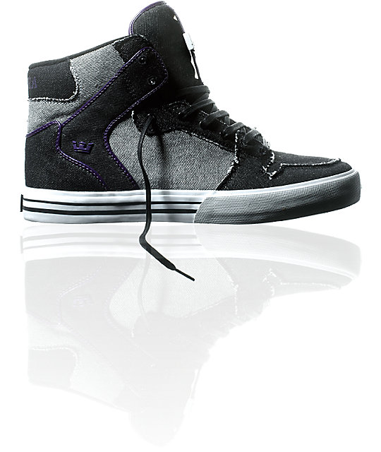 Supra Vaider Black, Grey & Denim Shoes