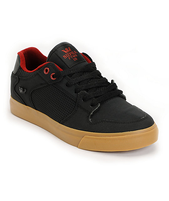 Supra Vaider Black, Red & Gum Raptor TUF Shoes