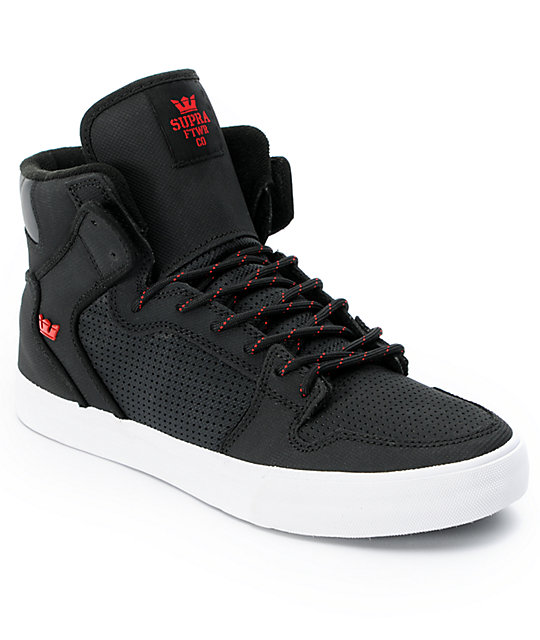 Supra Vaider Black & Red Raptor TUF Shoes