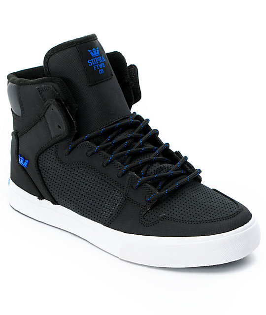 Supra Vaider Black & Royal Raptor TUF Shoes