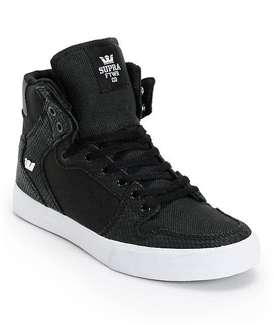 supra vaider black ballistic python skate shoes