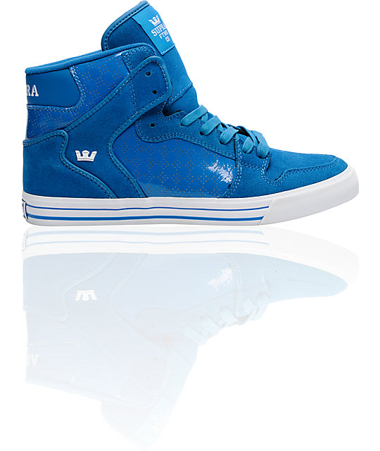 Supra Vaider Blue Suede & Patent Shoes