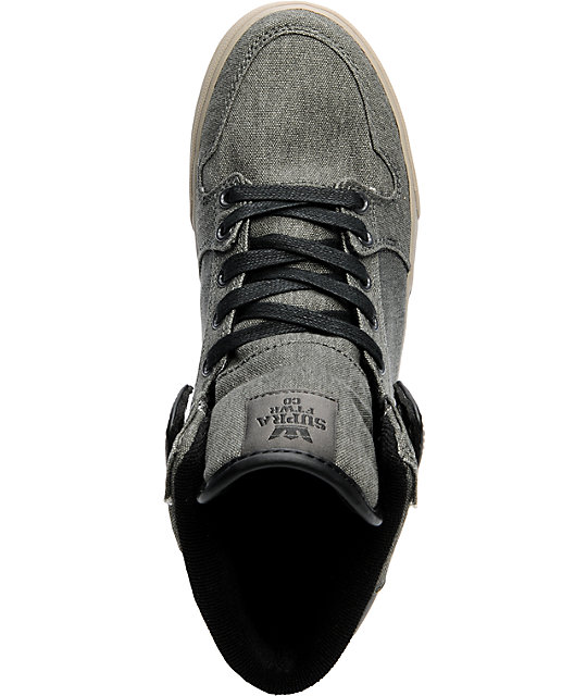 Supra Vaider Charcoal Canvas Shoes