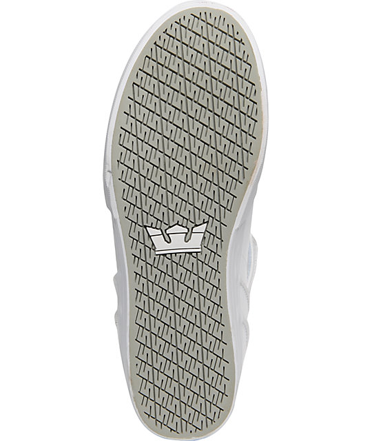 Supra Vaider Duct Tape Series White Shoes