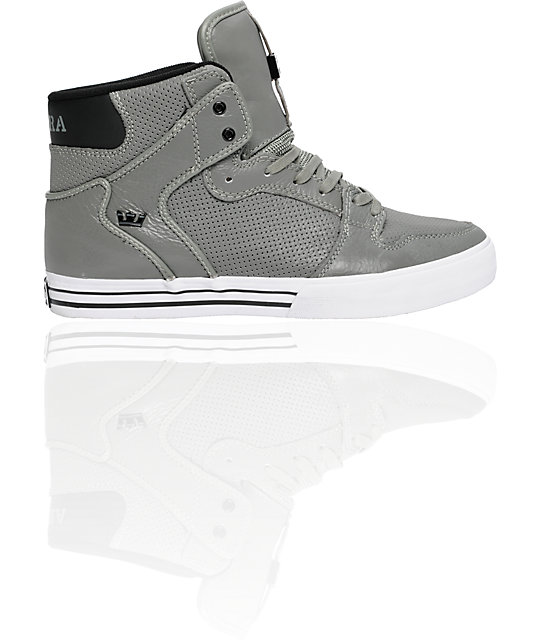 Supra Vaider Grey Full Grain Shoes