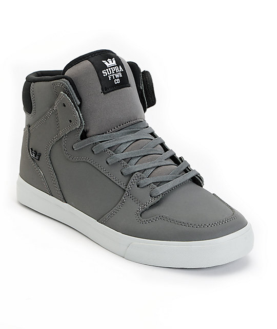 Supra Vaider Grey Satin & Neoprene TUF Shoes