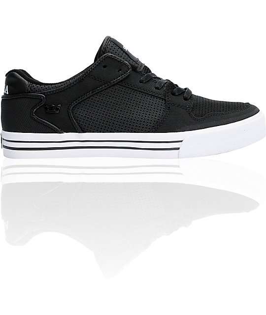 Supra Vaider Low Tuf Black Perf Shoes