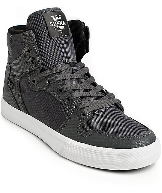 Supra Skytop I Shoes Men Sale Grey Black