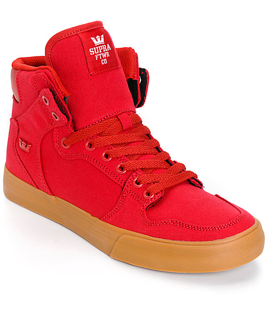 Supra Vaider Red Skate Shoes