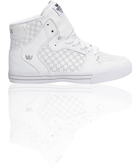 Supra Vaider Tuf White Shoes