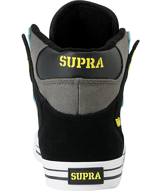 Supra Vaider Turquoise, Grey & Black Shoes