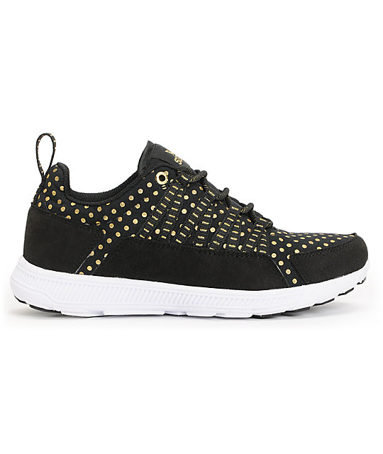 Supra Womens Owen Black & Gold Shoes