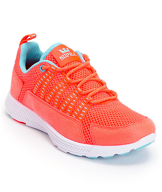 Supra Womens Owen Neon Coral Shoes