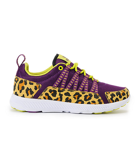 Supra Womens Owen Purple & Cheetah Shoes