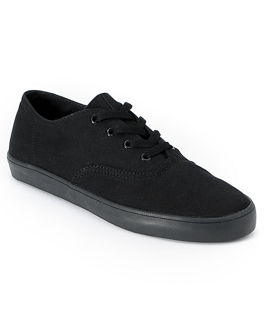Supra Wrap Black & Black Canvas Shoes