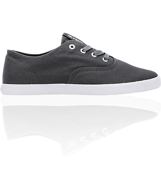 Supra Wrap Charcoal Canvas Shoes