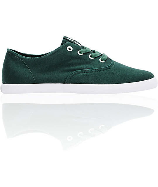 Supra Wrap Dark Green Canvas Shoes