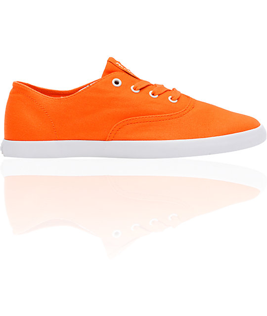 Supra Wrap Orange Canvas Shoes