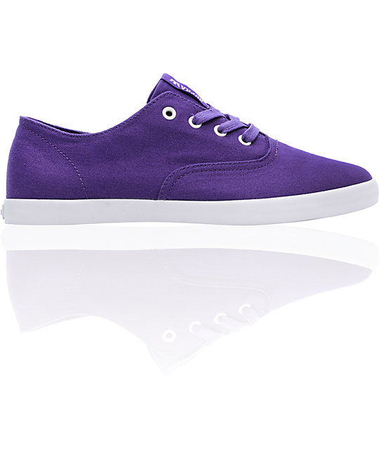 Supra Wrap Purple Canvas Shoes