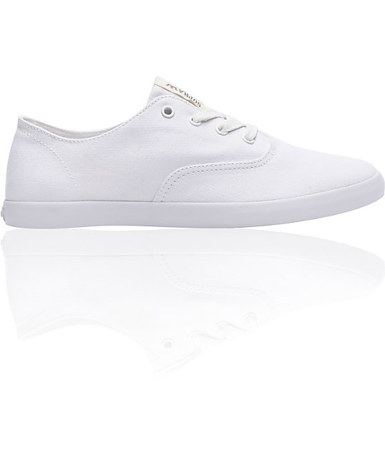 Supra Wrap White Canvas Shoes