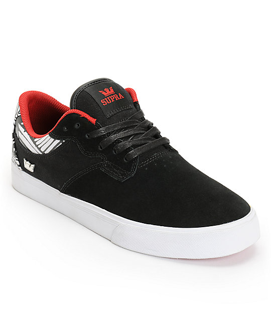 Supra X PUSH Axle Black Suede Shoes