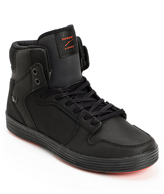 Supra x G-Shock Vaider Lite Black Skate Shoes