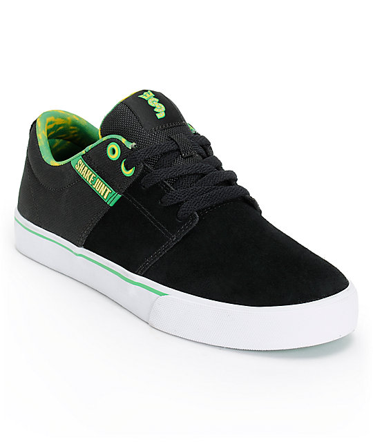 Supra x Shake Junt Stacks Vulc 2 Black Suede Shoes