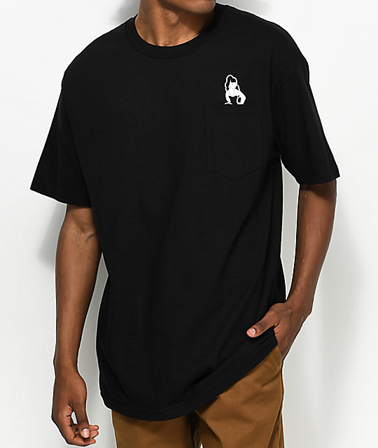 Swallows & Daggers Pinup Black Pocket T-Shirt
