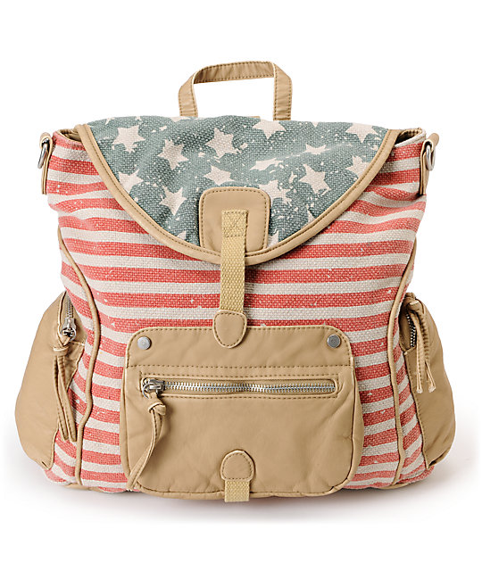 T-Shirt & Jeans American Flag Rucksack Backpack