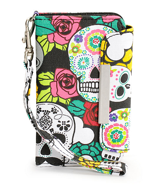 T-Shirt & Jeans Day Of The Dead iPhone Clutch Wristlet