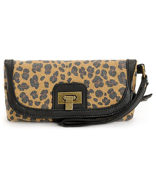 T-Shirt & Jeans Leopard Print Wrist Wallet