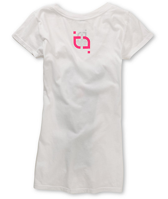 TMLS Cotton Candy V-Neck White T-Shirt