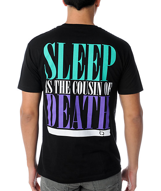 TMLS Sleep Is The Cousin Black T-Shirt