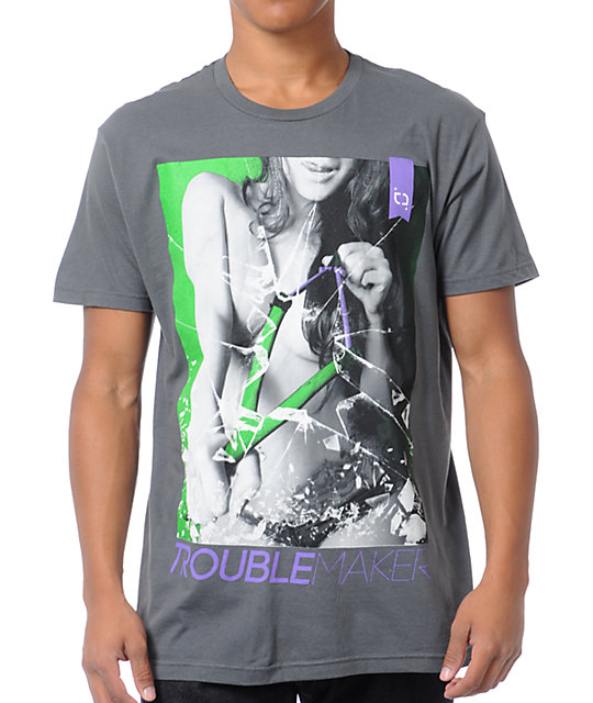 TMLS Trouble Maker Grey T-Shirt