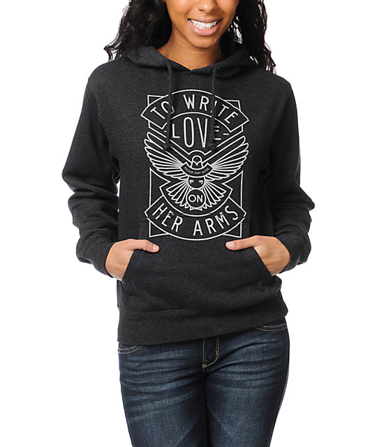 TWLOHA Dove Charcoal Grey Pullover Hoodie