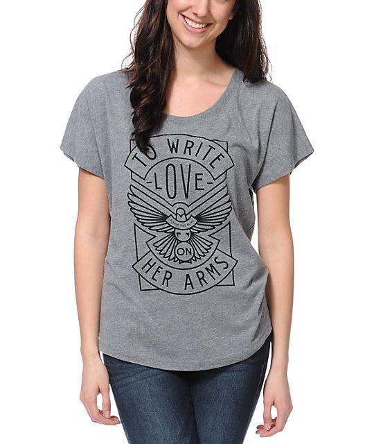 TWLOHA Dove Heather Grey Scoop Neck T-Shirt