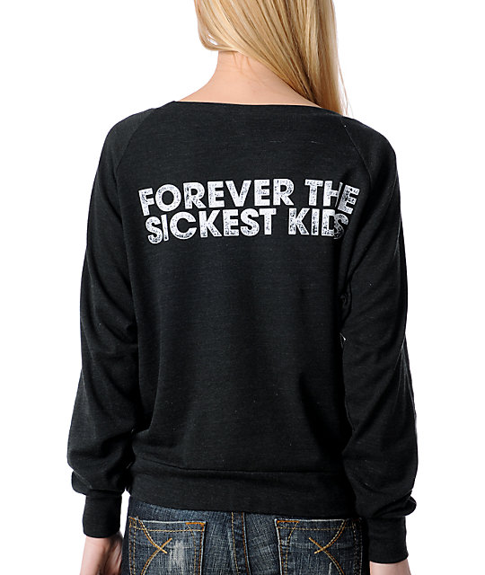 TWLOHA Forever the Sickest Kids Charcoal Raglan Top