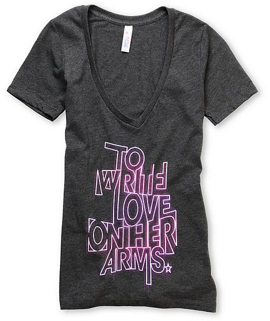 TWLOHA Glow Heather Grey V-Neck T-Shirt