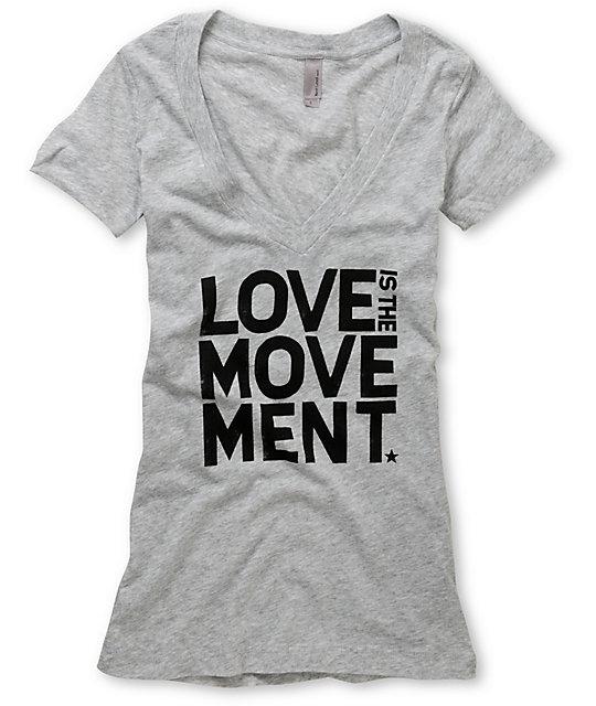 TWLOHA Movement Heather Grey V-Neck T-Shirt