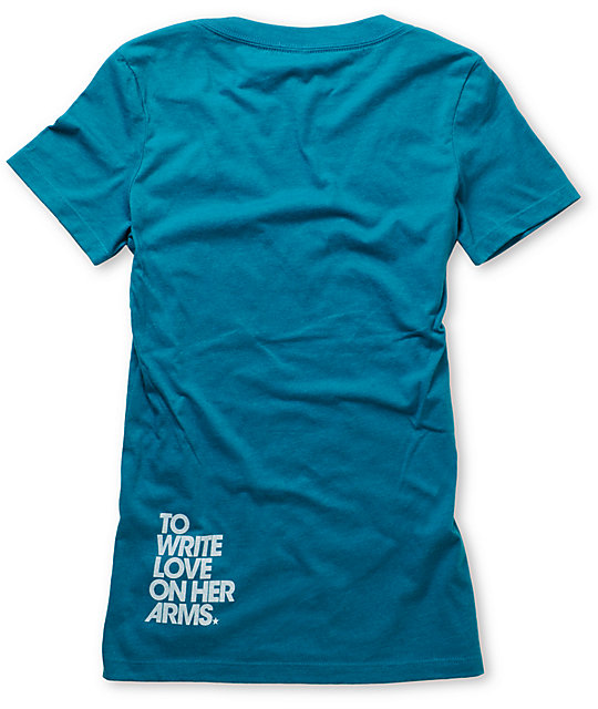 TWLOHA Movement Teal V-Neck T-Shirt