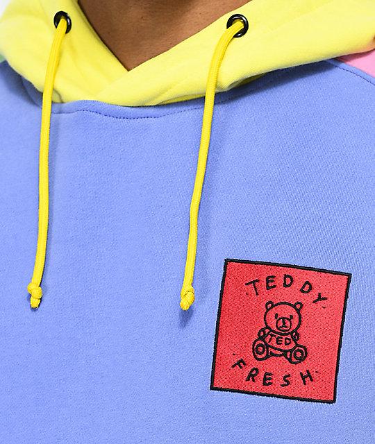Teddy Con Pastel Multicolor Fresh Sudadera Capucha q3L54ARj