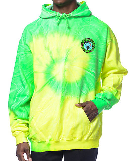 teenage madness green tie dye pullover hoodie at zumiez pdp. Black Bedroom Furniture Sets. Home Design Ideas