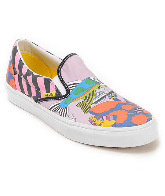 The Beatles X Vans Slip On Yellow Submarine Sea of Monsters Skate Shoes
