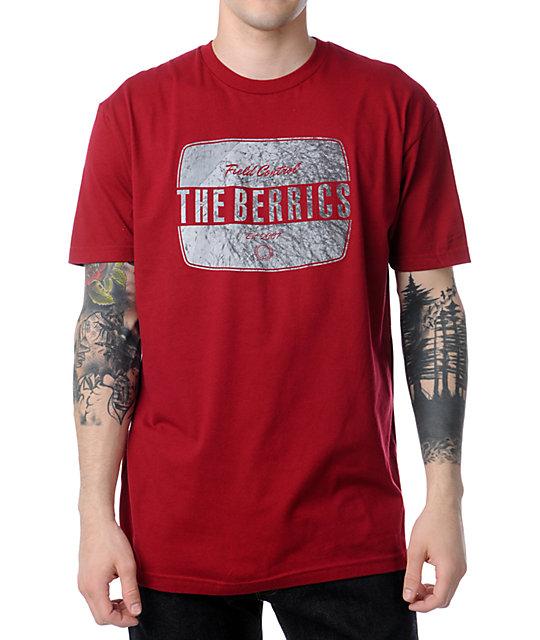 The Berrics Can Dark Red T-Shirt