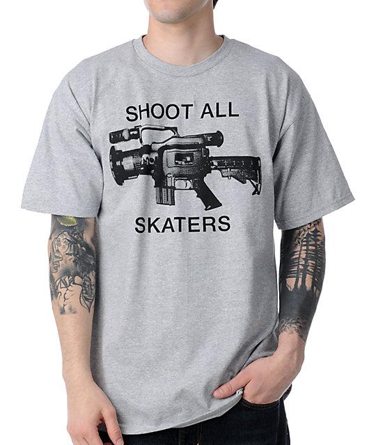 The Berrics Shoot All Skaters Grey T-Shirt